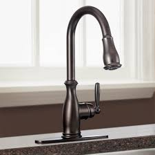 bronze wall mount moen brantford kitchen faucet two handle pull