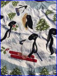 diddel needlepoint penguin tree skirt 74 diameter