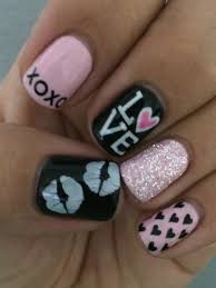 easy valentine u0027s day nail art ideas nail nail makeup and pretty