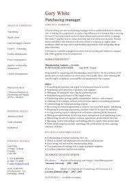Sample Resume For Procurement Officer by Sample Cv For Procurement Manager Procurement Resume Resume