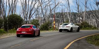 porsche cayman comparison jaguar f type s coupe v porsche cayman gts comparison review