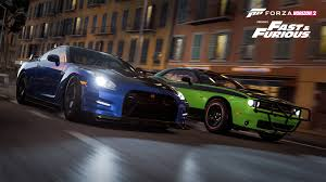 fast and furious cars wallpapers image brian u0027s nissan gt r u0026 letty u0027s challenger forza horizon 2