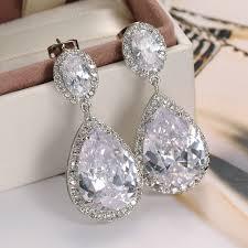drop bridal earrings find more drop earrings information about luxury zircon big