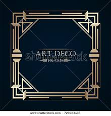 art deco border template vectorillustration imagem vetorial de