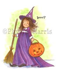 cute little halloween witch decor wall art for halloween party