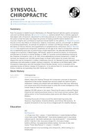 Doctor Resume Example by Chiropractor Resume Samples Visualcv Resume Samples Database