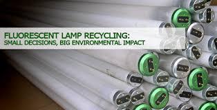 fluorescent l disposal cost fluorescent l recycling small amounts of mercury big hazard