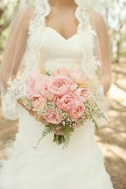Shabby Chic Bridal Bouquet by Pink Peony And Babys Breath Bouquet Aqua Mint And Pink Wedding