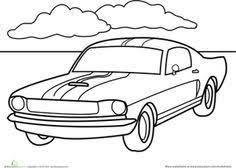 free coloring pages of mustang cars kids coloring picture of a mustang muscle car transportation