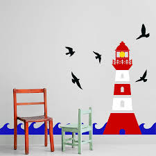 lighthouse wall sticker decal by snuggledust studios wall sticker