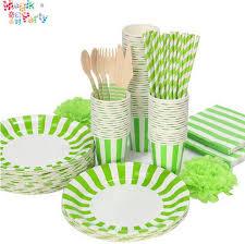 birthday supplies striped paper tableware set paper