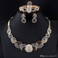elegant necklace set images 2018 new elegant women jewelry set gold color necklace earring jpg