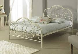 4ft bed sareer alexis white 4ft 120cm x 190cm small double metal bed