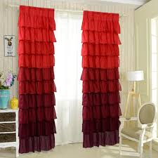 Curtain Panels 54x84 Ruffle Sheer Curtain Panels Drapes Valances Top Rod Pocket