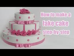 how to make a fake cake step by step youtube faux wedding