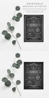 Diy Wedding Invitation Template Vintage Rustic Diy Wedding Invitation Template
