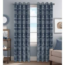 Blue And White Gingham Curtains Buy Curtain Panels With Grommets From Bed Bath U0026 Beyond