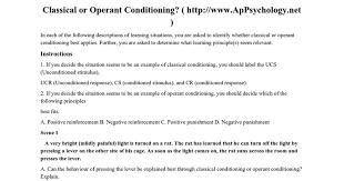 classical v operant conditioning pdf google docs