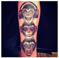 speak no hear no see no evil monkey tattoo designs photos
