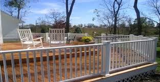 Decking Banister Vinyl Vs Wood Deck Railing Mmc Fencing U0026 Railing