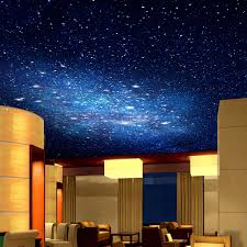 Washable Ceiling Paint by 3d Star Nebula Night Sky Large Suspended Ceiling Painted Wall Tv