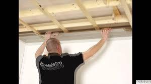 Faux Plafond Salle De Bain by La Pose D U0027un Lambris Maestro Sur Un Plafond Youtube