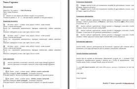 scarica curriculum vitae europeo da compilare gratis pdf modelli curriculum vitae con esempi da scaricare e compilare