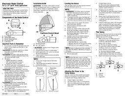 tekonsha voyager user manual 6 pages