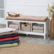 Storage Bench With Cushion Also Wooden Bench Box Seat Also Two