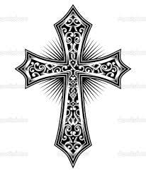 cool cross tattoo cross tattoos purple jewel pin free designs cross of the stone