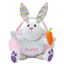 personalized bunny easter basket personalized bunny easter baskets lillian vernon