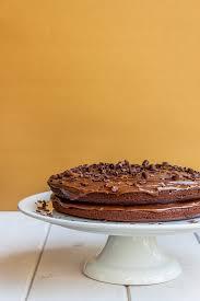 chocolate fudge gluten free cake recipe vegan à la mode