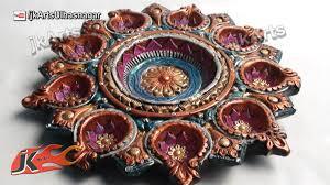 Diwali Home Decoration Ideas Photos Diy How To Decorate Diwali Diya Tray Diwali Home Decoration