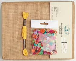 button bag craft kit house crafts