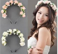 bridal garland boho flower headband bridal garland hair band garland festival