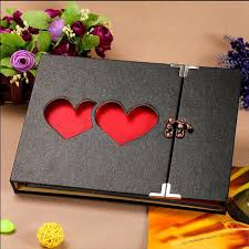 creative photo albums new arrival creative hollowed heart shape photo frame album