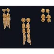design of earrings design gold earrings in m i road jaipur manufacturer