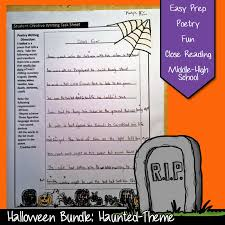 Halloween Short Poem Halloween Lesson Ideas For Middle Or High Teens