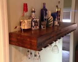 Bar Wall Shelves by Floating Wine Shelf Etsy