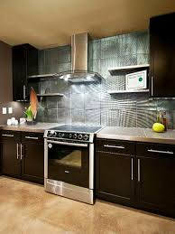 kitchen room modern stove design mixed wooden kitchen cabinets