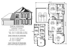 4 bedroom house floor plans narrow 2 story floor plans 36 50 foot wide lots