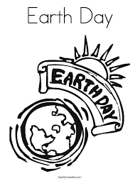 earth day coloring page twisty noodle