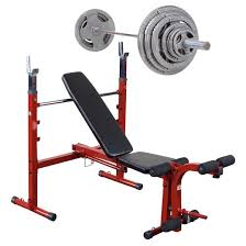 Weider 215 Bench Olympic Weights Set Target