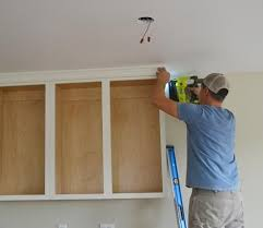 How To Cut Crown Moulding For Kitchen Cabinets Adding Crown Moulding To Wall Kitchen Cabinets Momplex Vanilla
