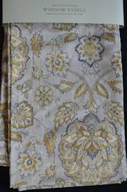 cynthia rowley set 2 panels drapes pair 96 jacobean floral