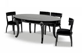 bellagio luxurious black crocodile transitional dining table