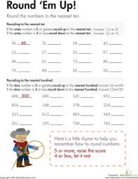 rounding round u0027em up worksheet education com