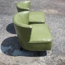 chair pair of small slipper chairs billy baldwin studio green