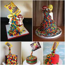 gravity defying m u0026m candy cake so easy so impressive