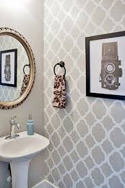 bathroom stencil ideas stencils boast big style in a powder room stencil patterns